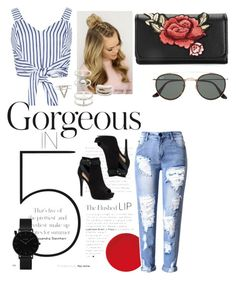 """""""🥀"""" by aicha-13 on Polyvore featuring mode, WithChic, Apt. 9, CLUSE, Charlotte Russe en Ray-Ban"""