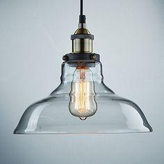 Deckenle Industriedesign lightess industrie retro hngele glas shade anhnger deckenleuchten