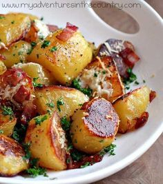 Recipe for Oven Roasted Potatoes - These will absolutely melt in your mouth !!