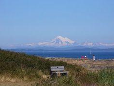 Dormant Mt.Baker,Washington, as seen from Cattle Point near Victoria,BC (across the Juan De Fuca Strait)