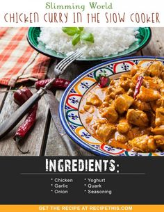 Slimming World Recipes | Slimming World Chicken Curry In The Slow Cooker recipe from RecipeThis.com
