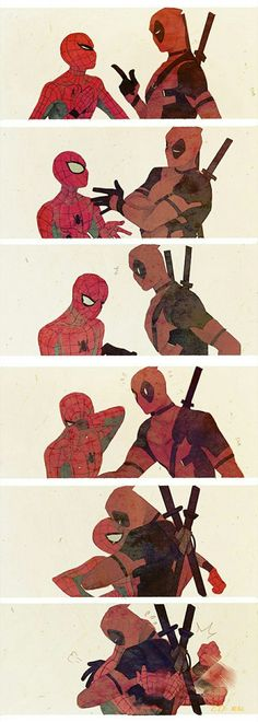 Don't cry // SpideyPool by Luoman