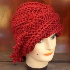 Autumn Red Crochet Hat Womens Hat Trendy Womens Crochet Hat Crochet Beanie Hat Autumn Red Hat LAUREN Beanie Hat for Women Crochet Hat by strawberrycouture by #strawberrycouture on #Etsy