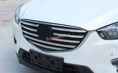 For Mazda CX-5 CX5 2015 2016  ABS Chrome Front Center Grille Grill Stripes Cover Trim 9pcs