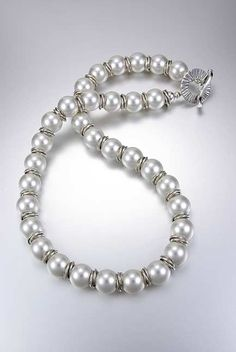 swarovski pearls and sterling silver necklace