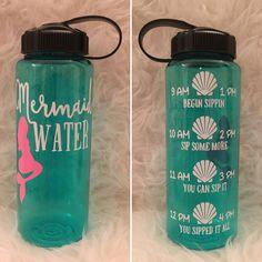 Mermaid Water Bottle Tracker by MyDeerestDarling on Etsy