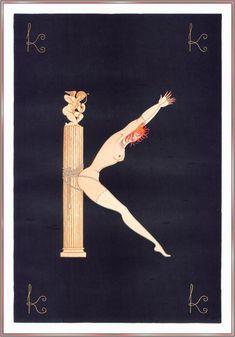 Prisoner of Love, 1983 by Erté (Romain De Tirtoff) (1892-1990, Russia)