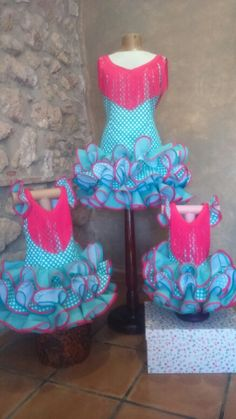 Trajes de flamenca en tallas para mamá y niñas de 6 y 2 años Baby African Clothes, Dance Dresses, African Fashion, Ballet, Womens Fashion, Collection, Kids Fashion, Kids, Women's Fashion