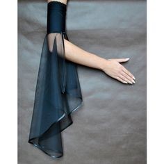 Elegant GOTHIC VAMPIRE costume Victorian Evening glones Glamour long... ($30) ❤ liked on Polyvore featuring accessories, gloves, fingerless mittens, elbow length fingerless gloves, long gloves, ruffle gloves and goth gloves