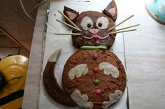 chat - Page 2 Cooking Humor, Homemade Birthday Cakes, Birthday Cake Decorating, Cat Birthday, Cat Party, Cakes For Boys, Gingerbread Cookies, Cupcake Cakes, Sweet Tooth