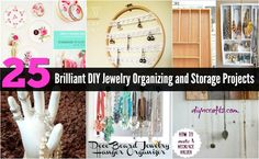 Utensil Holder Jewelry Hanger With a wooden utensil hanger, a few hooks and a couple of hours of time, you can create a beautiful jewelry hanger that keeps your jewelry organized and handy. You could use a plastic utensil holder for this, but the wood is much sturdier and more attractive. You...