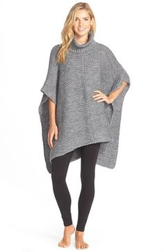UGG® Australia 'Robbyn' Chunky Knit Turtleneck Poncho available at #Nordstrom