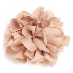 Flor de tela color Capuccino.
