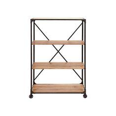 On the Go Metal and Wood Shelf
