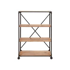On the Go Metal and Wood Shelf
