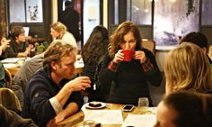 Death Cafes: a new thing to get people talking about the taboo topic of death, dying, and how they want it all to go down --People chatting about dying at the pop-up death cafe at Lovecrumbs in Edinburgh. Photograph: Murdo Macleod for the Guardian