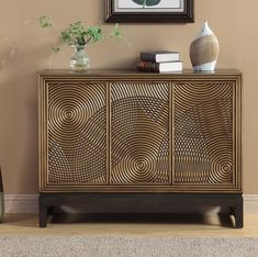 Store your extra dinnerware, flatware, and table linens in a buffet table or sideboard. Shop our great selection of stylish buffet tables and sideboards. French Furniture, Metal Furniture, Unique Furniture, Luxury Furniture, Home Furniture, Furniture Design, Credenza Decor, Metal Sideboard, Sideboard Table
