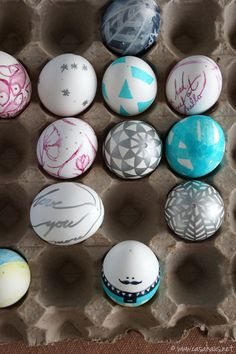 Lovely and easy DIY Easter eggs / Huevos de Pascua simpáticos y lindos | casahaus.net