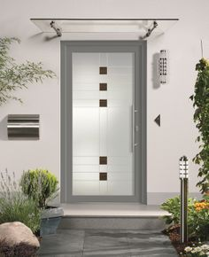 Portoncini d' Front Door Awning, Front Door Canopy, Canopy Glass, Modern Door, Marquise, Front Entrances, Entrance Doors, Sun Shades, House Design