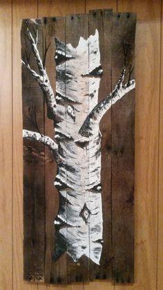 pallet painting Feb /17 painted By: Dennis Rawluk
