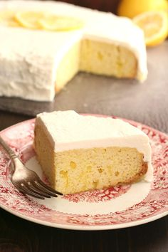 Slow Cooker Lemon Poke Cake | Poke cake recipes taste best when they're also lemon desserts. This easy cake recipe is perfect for parties and potlucks!