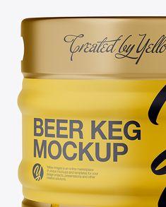 30L Matte Beer Keg Mockup - Front View (Eye-Level Shot)