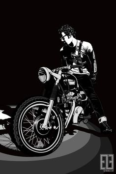 Motorcycle #illustration #motorcycle | caferacerpasion.com
