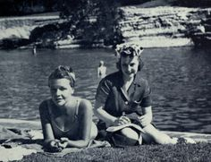 UT students enjoyed a day at Barton Springs in Austin, Texas - 1938