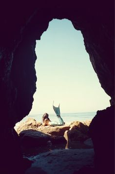sunbathing mermaid