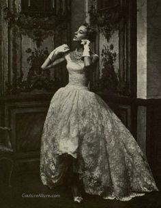 Gown by Givenchy, 1954.