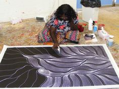 """ABORIGINAL ART PAINTING by ANNA PETYARRE """"MY COUNTRY"""" 152 x 90 cm"""