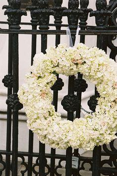 white floral wreath | Virgil Bunao #wedding