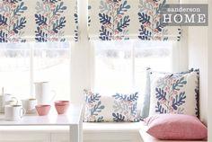 Tecidos Sanderson, colecção Papavera Prints & Embroideries. À venda na Nova Decorativa! #decoração #tecidos #homedecor #fabrics #Sanderson