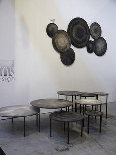 vosgesparis: Maison et Objet 2013   Handmade wood tables by Mos Design