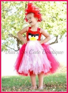 Angry Bird Inspired Tutu Dress