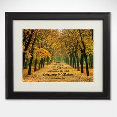 Gemeinsamer Weg Herbstbild Wandbild personalisiert von LPZGmbH