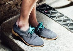 Dark Grey Suede Women's Brogues | TOMS