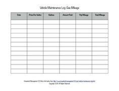 Vehicle Mileage Log - Expense Form - Free PDF Download | Free ...