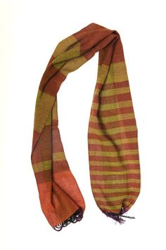 Summer night skinny one of a kind handwoven scarf $99