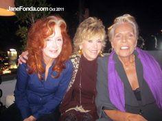 Bonnie, Ms Fonda and Joni, ageless all.            Jane's blog ... to hear Joni and Bonnie talk ...  http://janefonda.com/joni-mitchell-bonnie-raitt/
