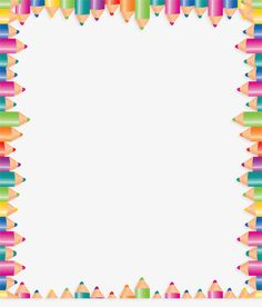 Color pencil border, Frame, Colored Border, Pencils Border PNG and PSD Page Borders Design, Border Design, Pencil Clipart, School Border, Boarders And Frames, School Frame, Borders For Paper, Paper Frames, Floral Border