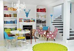 nowoczesne wnętrze stare odnowione krzesła - Szukaj w Google