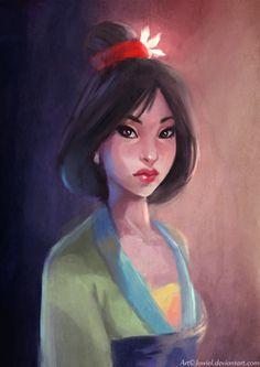 In honor of Mulan's 15th anniversary // Movie Friday: 15 Artist Recreations of Disney's Mulan