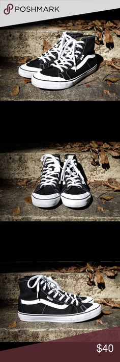 Vans Black Ball High - SZ 11 Awesome pair of Vans Black Black Hi. Size 11. Worn only a couple of times. 9/10 condition!!! Vans Shoes Sneakers