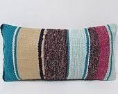 kilim lumbar pillow colorful decorative pillow multicolor throw pillow striped kilim pillow kilim rug pillow bedroom pillow sham boho 23543