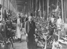 United Kingdom 1900 Factory Interior - LIFE