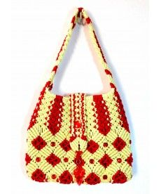 #Macrame #bag with flap closure                                                                                                                                                     More
