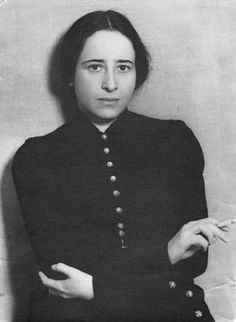 Hannah Arendt. German Social/Political Philosopher. b.10-14-06 in Hanover Germany, d.12-3-76 in the USA.