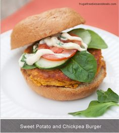 Sweet potato and chickpea-burger