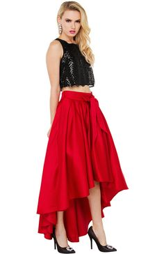 Bomb Product of the Day: Shop Akira's Grace High Low Shine Skirt ...